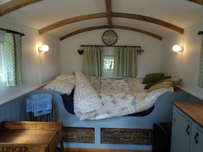 Inside Shepherd's Hut
